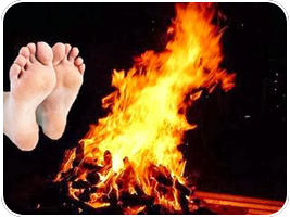 feet to the fire